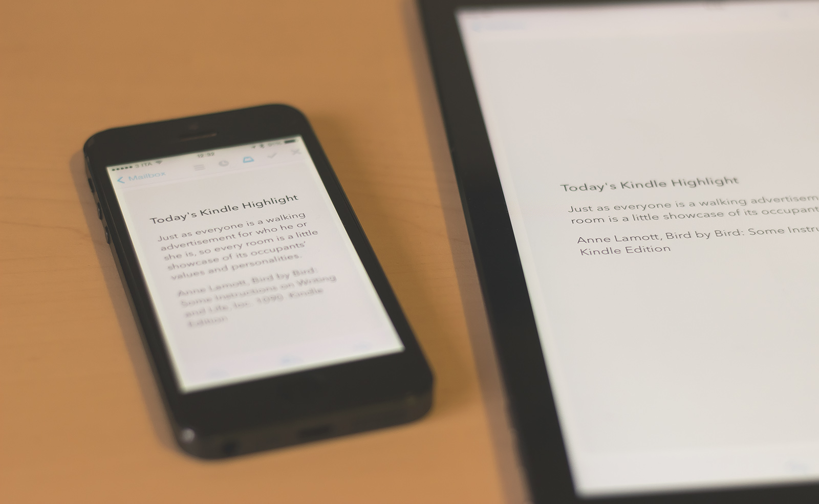 receive a random kindle highlight from your books every